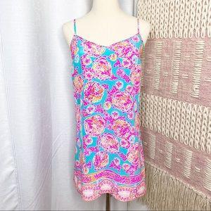 Lilly Pulitzer Dusk Sea Blue Coral Cove Mini Dress